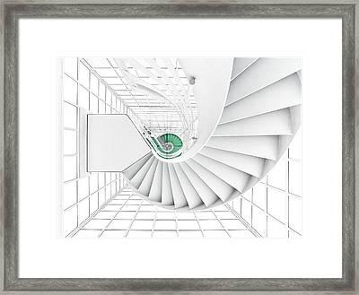 Stairs_2_kinemathek Framed Print by Herbert A. Franke
