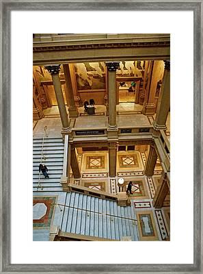 Stairway Architecture Carnegie Art Musem Framed Print by Blair Seitz