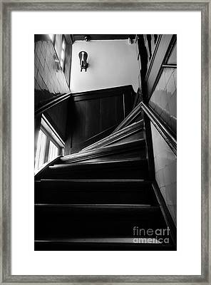 Stairway In Amsterdam Bw Framed Print by RicardMN Photography