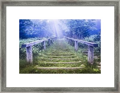 Stairway Into Heaven Framed Print by Debra and Dave Vanderlaan