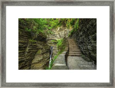 Stairway To Bliss  Framed Print by Michael Ver Sprill