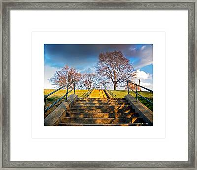 Stairway To Federal Hill Framed Print