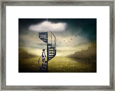 Stairway To Heaven. Framed Print by Ben Goossens