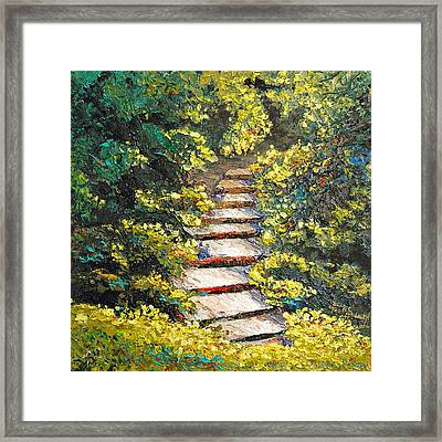 Stairway To Heaven Framed Print by Cathy Fuchs-Holman
