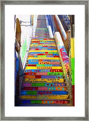 Stairway To Heaven Valparaiso Chile II Framed Print