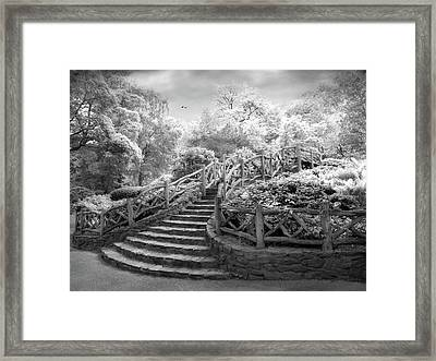 Stairway To Heaven Infrared Framed Print by Jessica Jenney