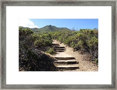 Stairway To Heaven On Mt Tamalpais Framed Print by Ben Upham III
