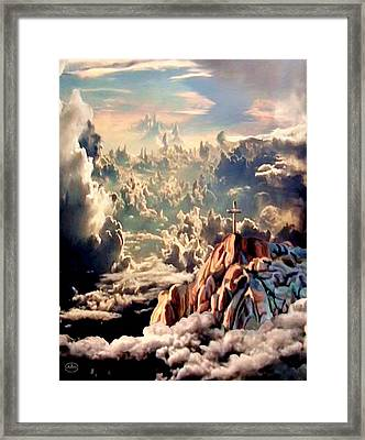 Stairway To Heaven Framed Print by Ron Chambers