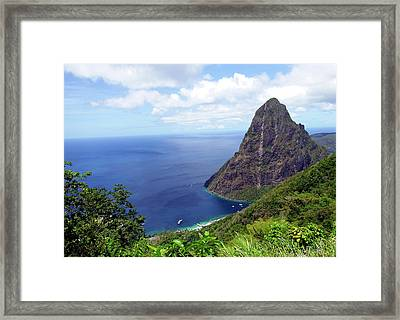 Framed Print featuring the photograph Stairway To Heaven View, Pitons, St. Lucia by Kurt Van Wagner
