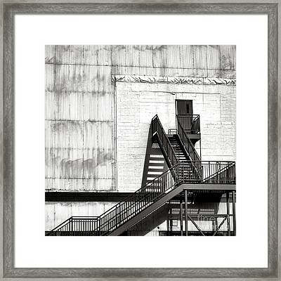 Stairway To Less Than Heaven  Framed Print by Olivier Le Queinec