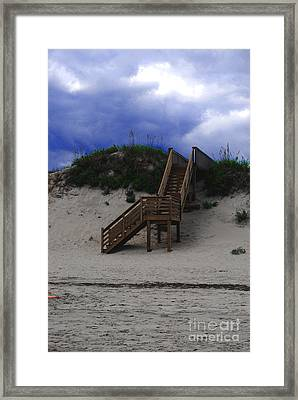 Stairway To Reality Framed Print by Linda Mesibov