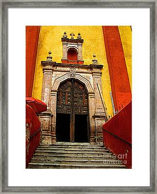 Stairway To The Cathedral Framed Print by Mexicolors Art Photography
