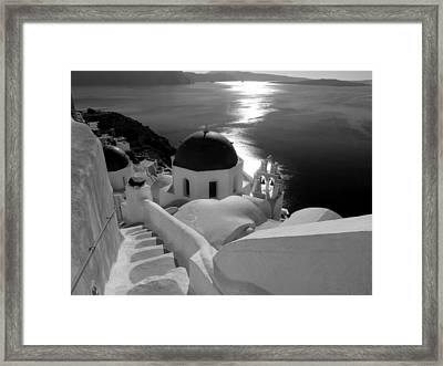 Stairway To The Church Framed Print