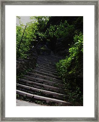 Stairway To Watkins 2 Framed Print by InTheSane DotCom