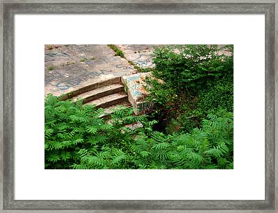 Stairway To Framed Print by Wayne Higgs