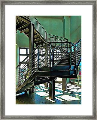 Stairway To Where Framed Print