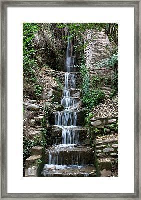 Stairway Waterfall Framed Print by Lorraine Devon Wilke