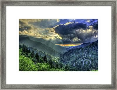 Stairways To Gatlinburg Great Smoky Mountains Art Framed Print by Reid Callaway