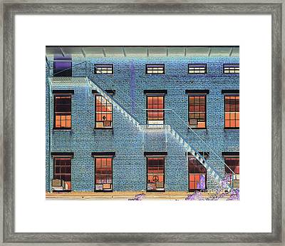 Stairwell At 2am Framed Print