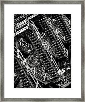 Stairwell Hell Framed Print by Olivier Le Queinec