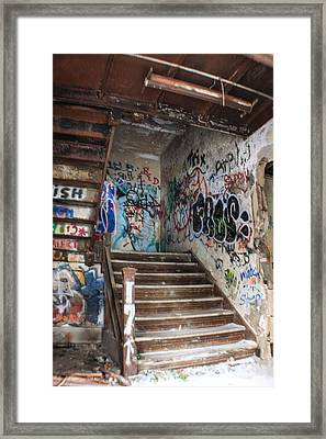 Stairwell In Michigan Central Station Framed Print