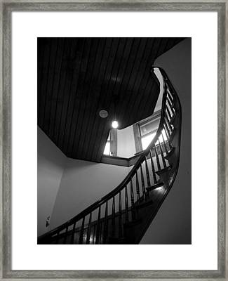 Stairwell To The Studio Crow's Nest Framed Print by Robert Boyette