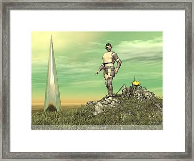 Staking Their Claim Framed Print by Jim Coe
