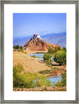 Framed Print featuring the photograph Stakna Monastery by Alexey Stiop