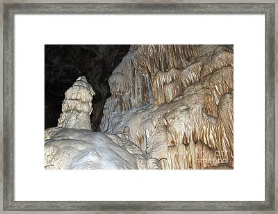Stalactite Formations Framed Print