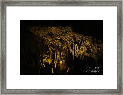 Stalactites Framed Print by Oscar Moreno