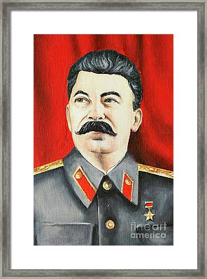 Stalin Framed Print by Michal Boubin