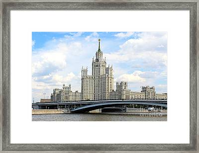 Kotelnicheskaya Embankment Building Framed Print