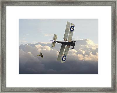 Framed Print featuring the digital art Stalked - Se5 And Albatros Dlll by Pat Speirs
