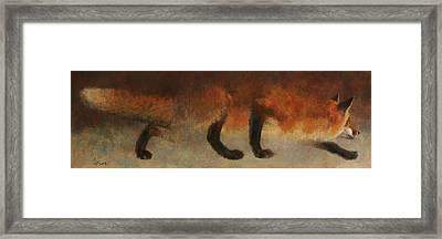 Stalking Fox Framed Print
