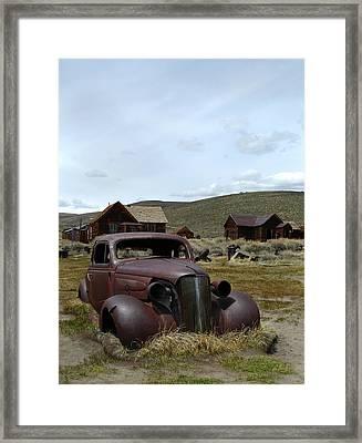 Stalled In Bodie Framed Print by Gordon Beck