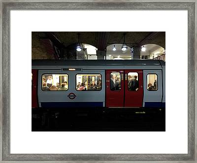Stalled Underground Framed Print