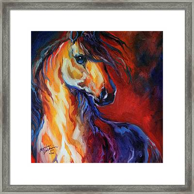 Stallion Red Dawn Framed Print