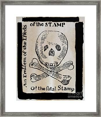 Stamp Act: Cartoon, 1765 Framed Print by Granger