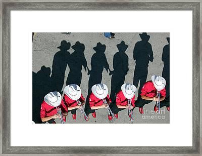 Framed Print featuring the photograph Stampede Brass Band by Wilko Van de Kamp