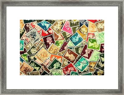 Stamping The Royal Mail Framed Print