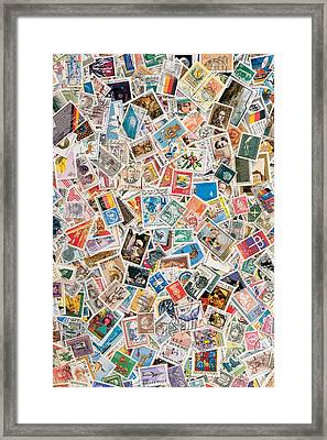 Stamps Framed Print by BONB Creative
