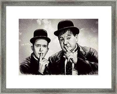 Stan And Ollie Comedy Duos Framed Print