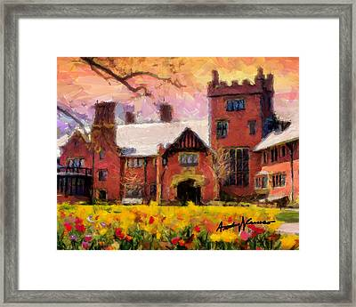 Stan Hewyt Hall And Gardens Framed Print by Anthony Caruso