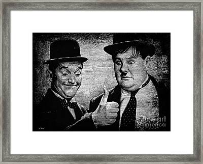 Stan Laurel And Oliver Hardy Framed Print by Andrew Read