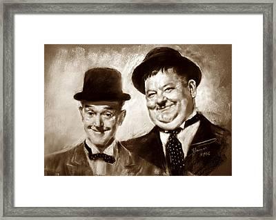 Stan Laurel  Oliver Hardy Framed Print by Ylli Haruni