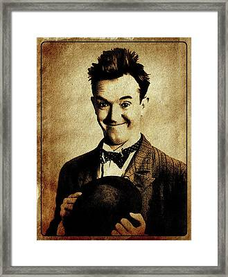 Stan Laurel Vintage Hollywood Actor Comedian Framed Print by Esoterica Art Agency