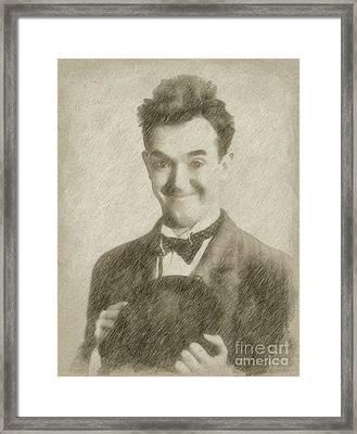 Stan Laurel Vintage Hollywood Actor Comedian Framed Print by Frank Falcon