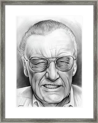 Stan Lee Framed Print by Greg Joens