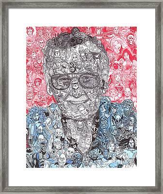Stan Lee Framed Print by Serafin Ureno