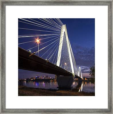 Stan Musial Bridge St Louis Framed Print